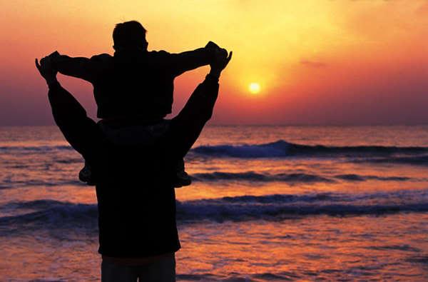 father-son-sunrise